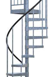 galvanized spiral stair kit render