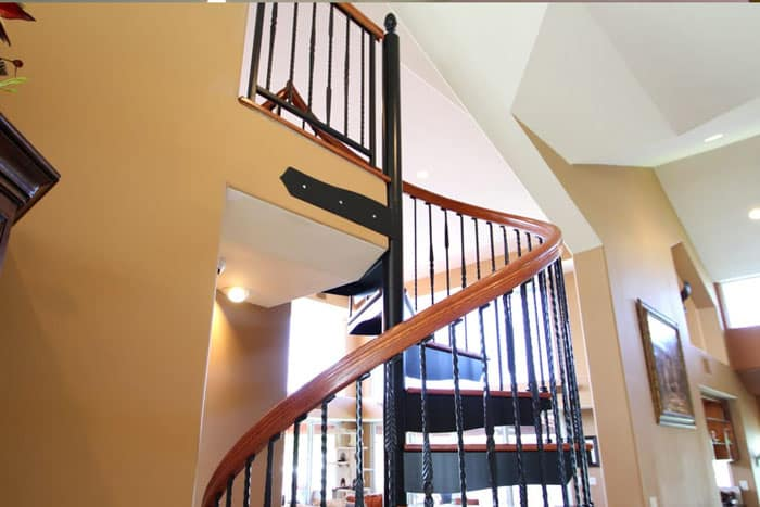 pressed tip baluster to handrail connection