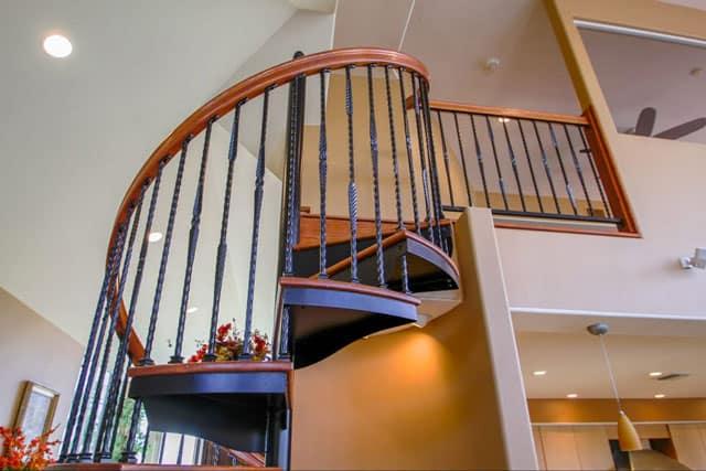 steel spiral stair