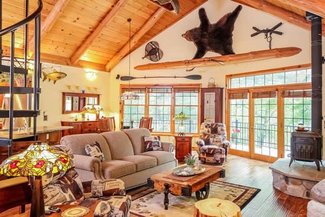 rustic cabin interiors