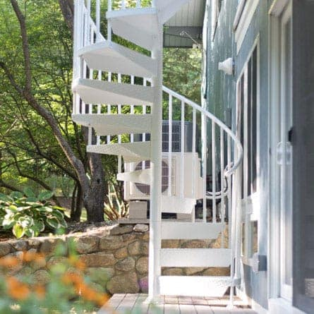 maintenance free outdoor aluminum spiral stair