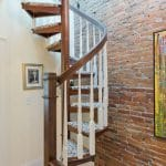solid wood compact spiral staircase