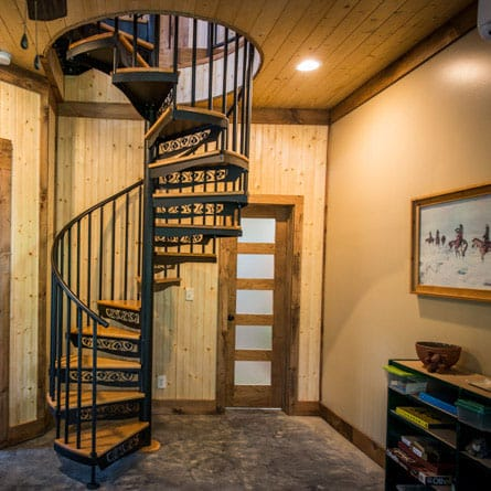 basement-metal-spiral-staircase