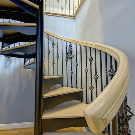 decorative forged iron spiral stair