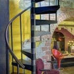 adjustable sleeve interior spiral staircase