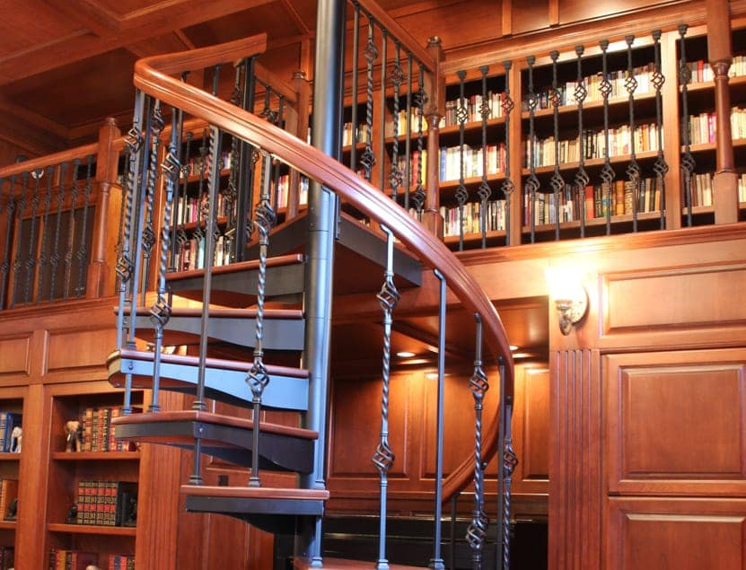 loft in home library