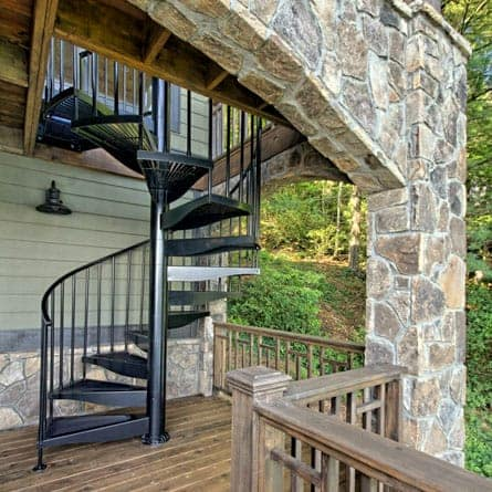 lake house aluminum deck stairs