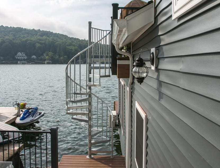 The Stratus (Outdoor Galvanized Boat Spiral Stairs)