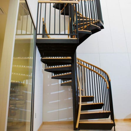 commercial office spiral staircase