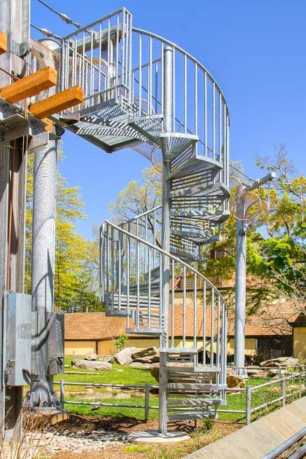 custom design outdoor galvanized spiral stair