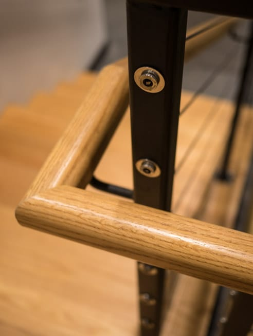 commercial handrail detail shot