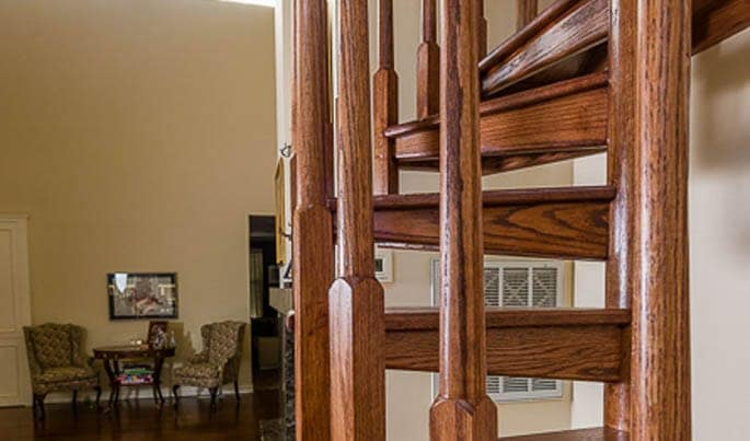 all wood spiral stair balusters