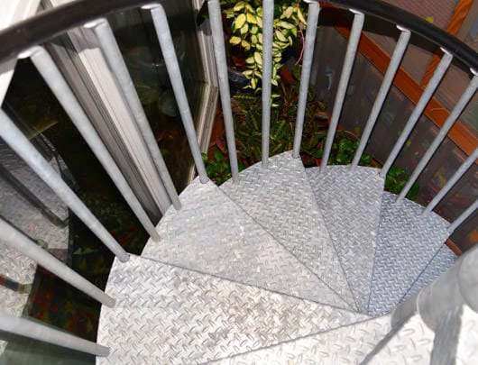 no slip diamond plate spiral stair treads