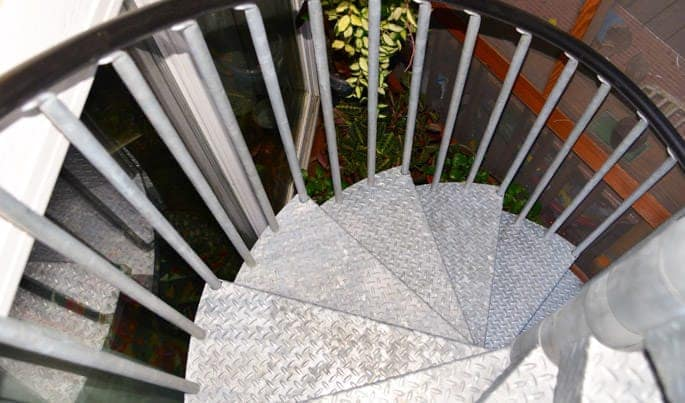 galvanized spiral staircase safety measures