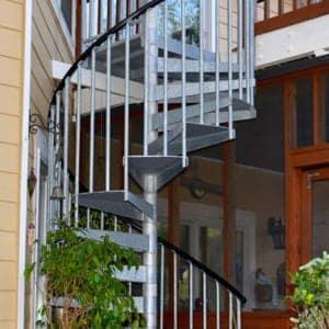 outdoor galvanized spiral stair kit