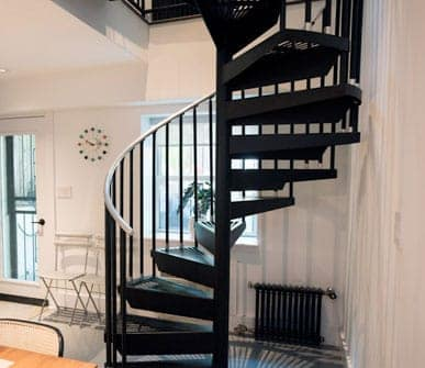 configurable steel spiral stair gallery