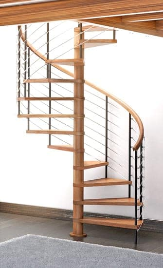 wooden spiral staircase kit - Wooden Stairs