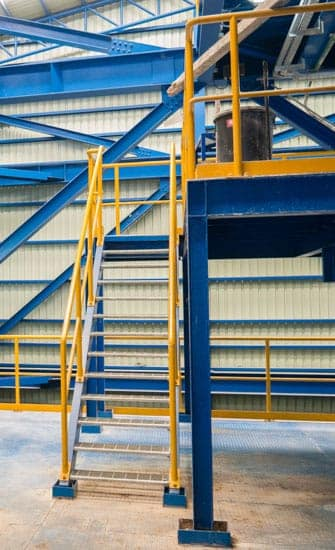 durable industrial stairs