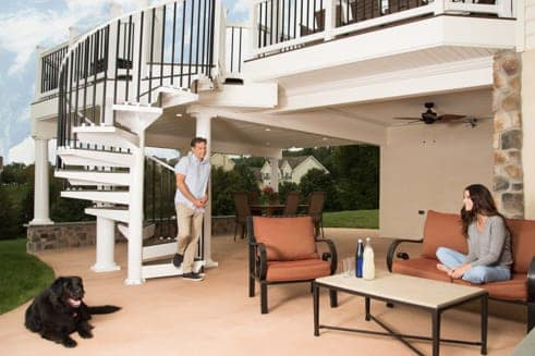 aluminum spiral staircase deck