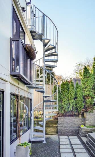 outdoor spiral staircases multistory