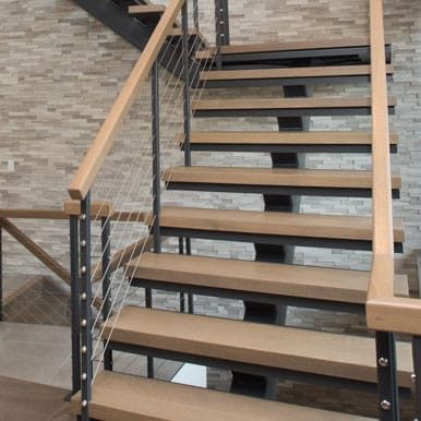 commercial straight stair