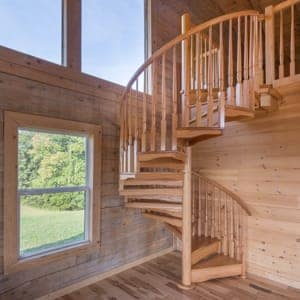 loft spiral staircase designs