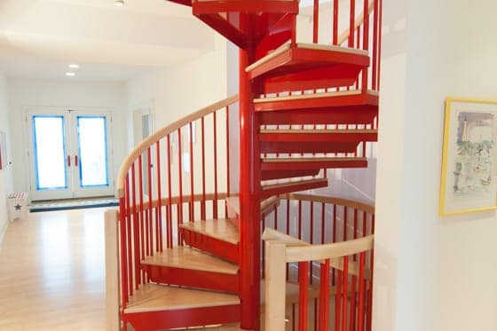 custom color steel spiral staircase
