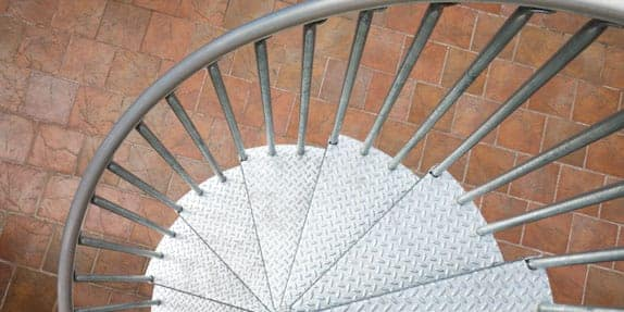 Galvanized Spiral Stairs