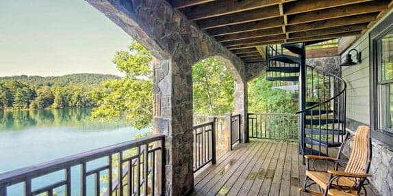 Outdoor Deck Spiral Stair