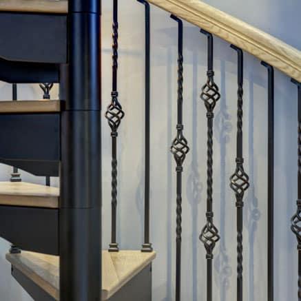 iron spiral staircase decorative