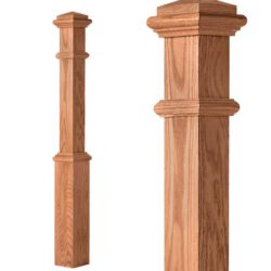 Box Newel w/Interchangeable Cap