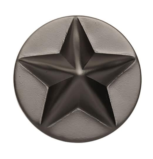 "Star-Shaped, Non-Weld Medallion - 4"""