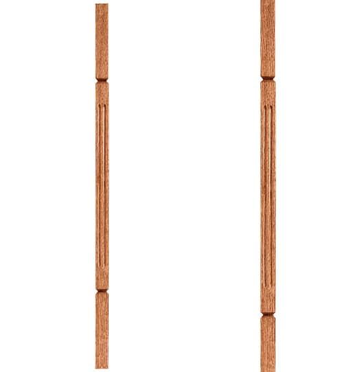 """1-1/4"""" Square Fluted Baluster"""