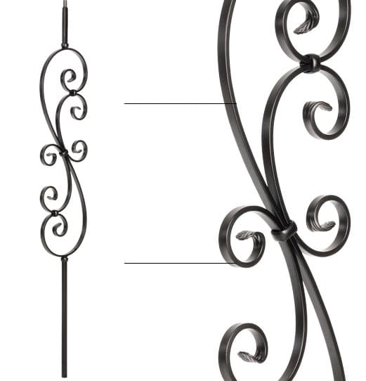 """Large Scroll Baluster - 1/2"""" X 44"""""""