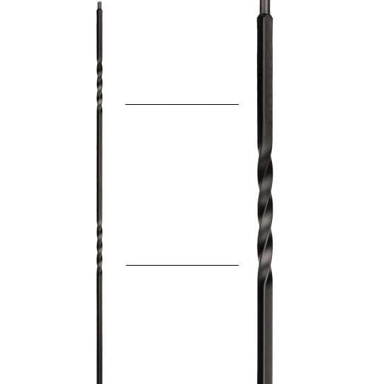 "Double Twist Baluster - 1/2"" X 44"""