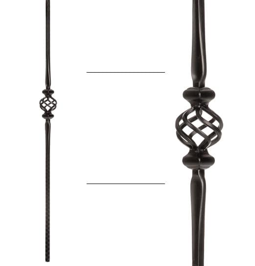 """Single Basket with Spoons Baluster - 9/16"""" X 44"""""""