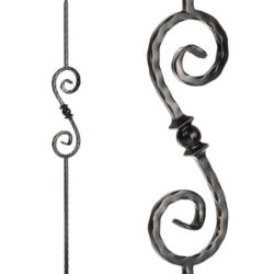 "Ball Scroll Baluster - 9/16"" X 44"""