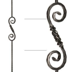 "Beehive Scroll Baluster - 9/16"" X 44"""
