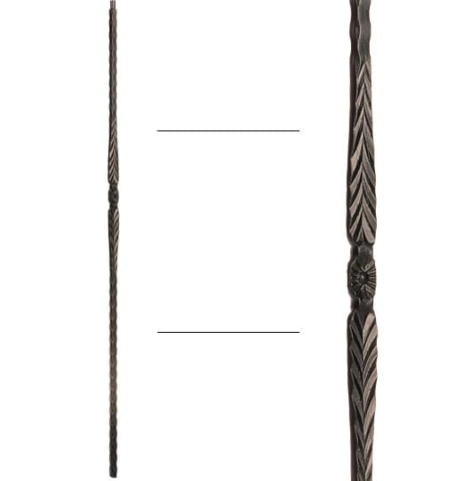 """Flower and Arrows Baluster - 9/16"""" X 44"""""""