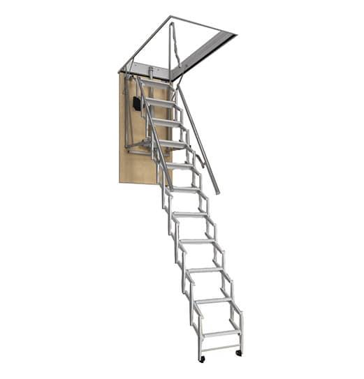 "Remote Controlled - Galaxy II Attic Ladder - 8' 4"" Tall"
