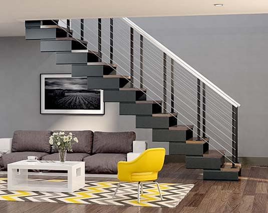modular staircase modern apartment