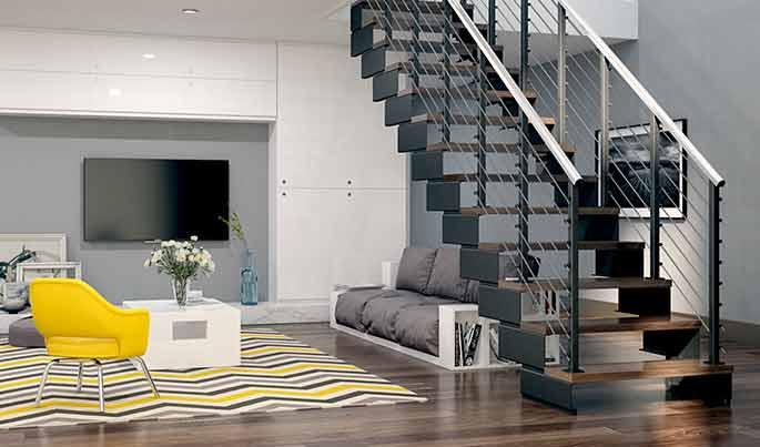 diy staircase modular frame