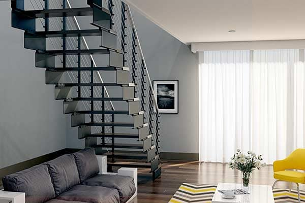 modular floating staircase