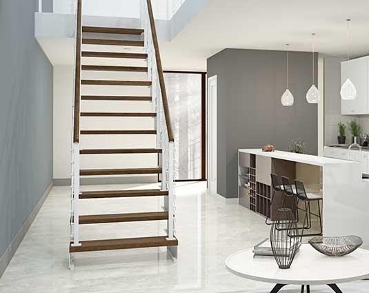 modern white stair