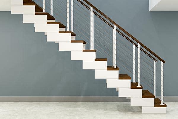 open modular stair frame