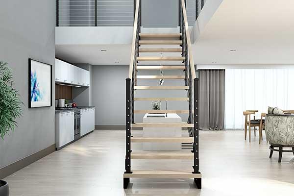 open frame modular staircase