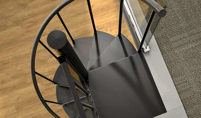smooth tread spiral stairs