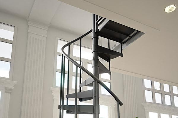 simple steel spiral staircase