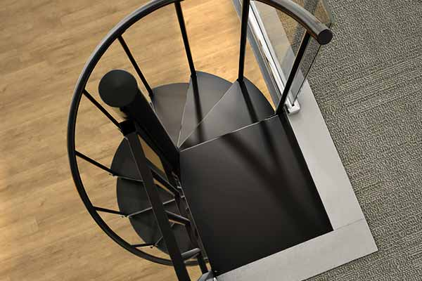 smooth treads spiral stairs